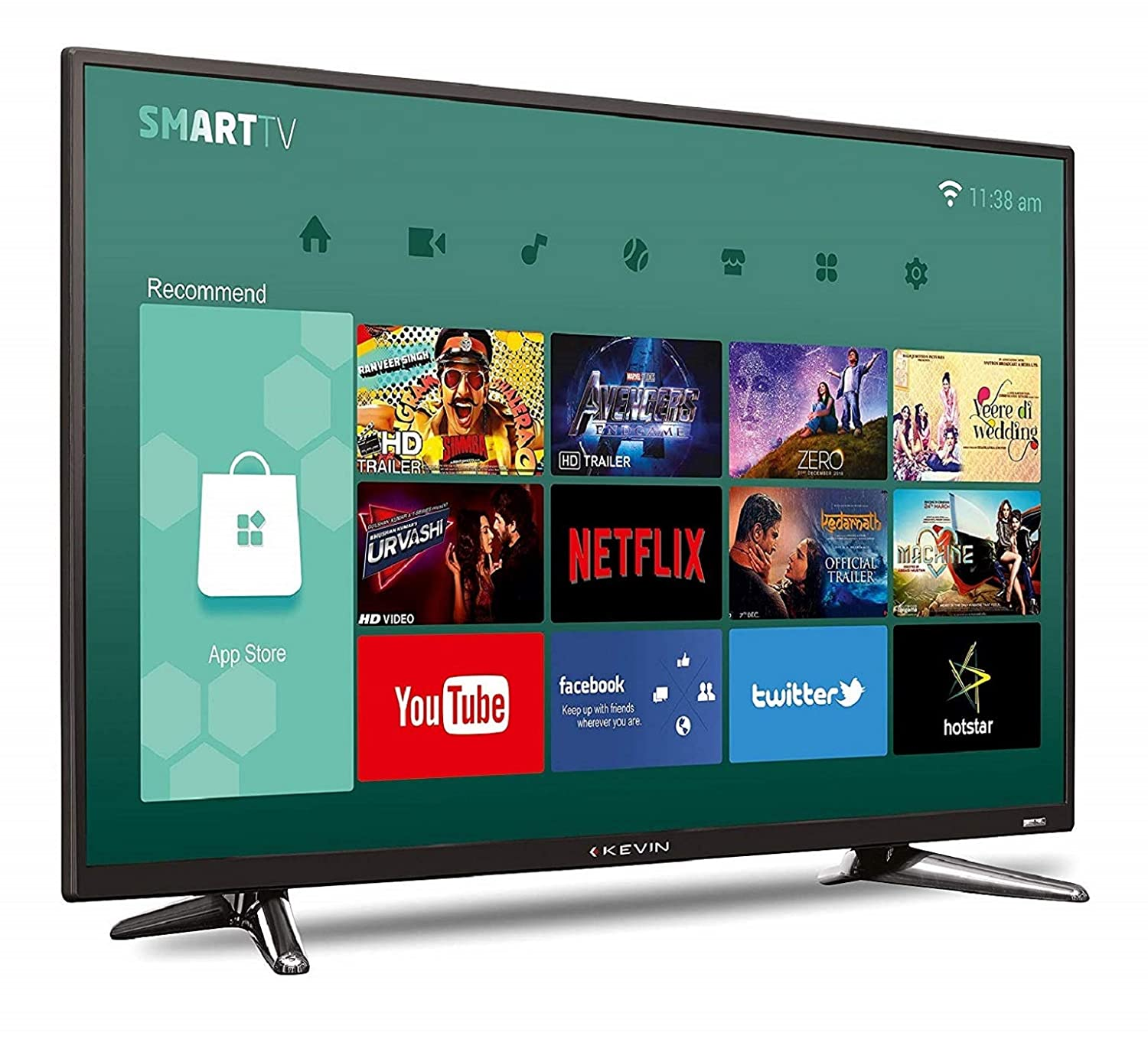 884641f7487 Kevin 102 cm Full HD LED Smart TV KN40S  Amazon.in  Electronics