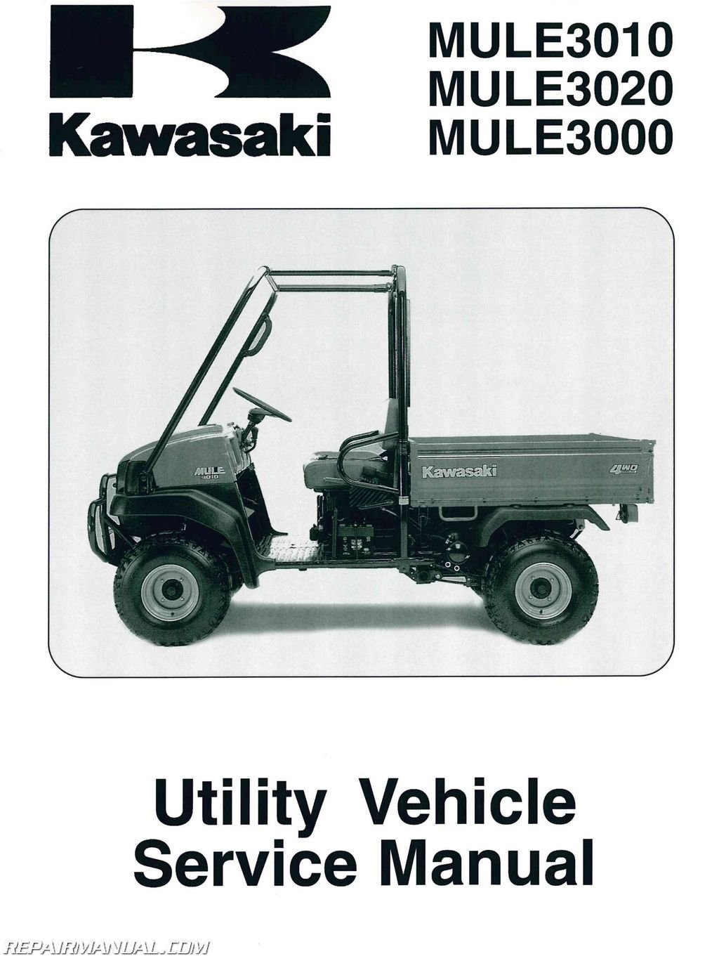 99924-1262-08 2001-2008 Kawasaki KAF620 Mule 3000 3010 3020 Service Manual:  Manufacturer: Amazon.com: Books