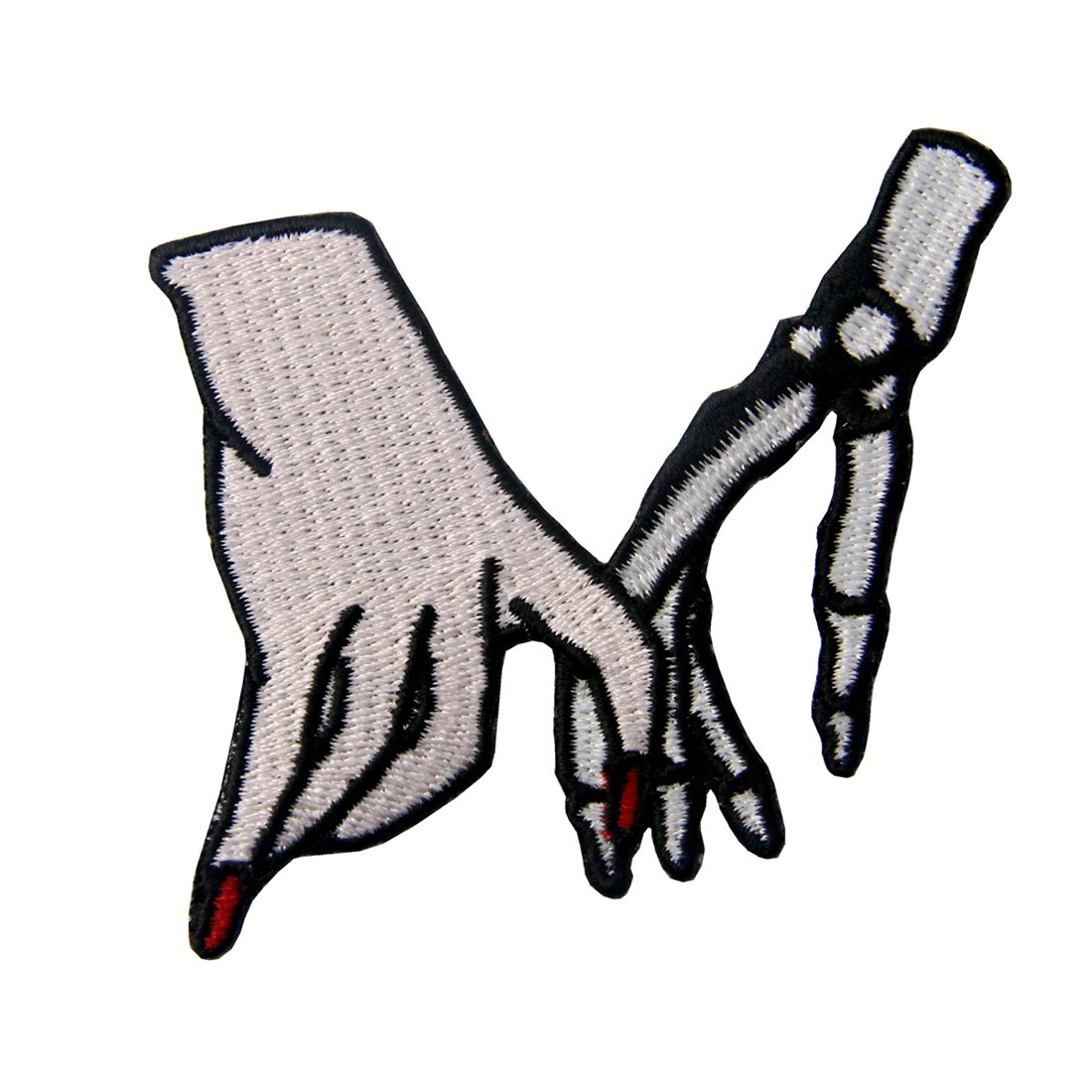Hand With Skeleton Cheating Love Applique Embroidered Badge Iron On Sew On Patch ZEGIN