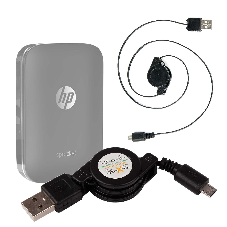 DURAGADGET Cable MicroUSB Retráctil para Impresora ...
