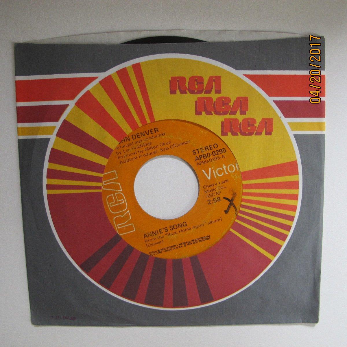 cool an' green an' shady / annie's song 45 rpm single