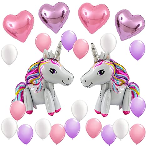 Unicorn Balloons Birthday Party Supplies For Kids Decorations