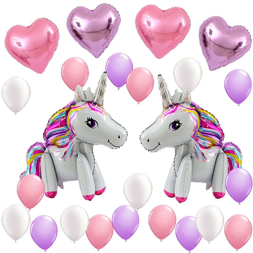 Unicorn Balloons Birthday Party Supplies for Kids Birthday Decorations