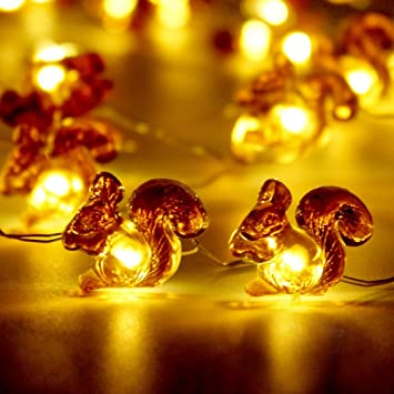 Amazon.com : Winter Decoration String Lights, Impress Life Squirrel ...