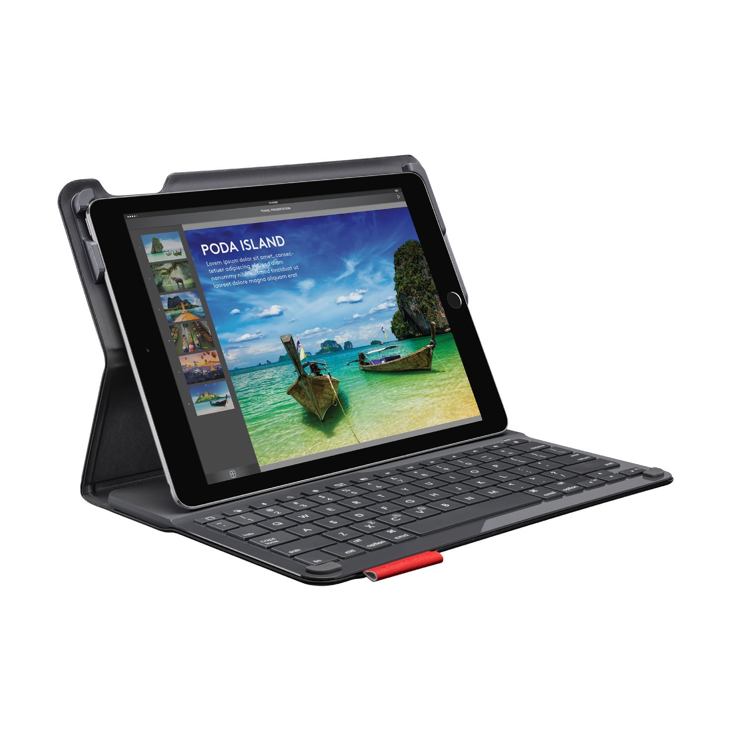 Logitech iPad Air 2 Keyboard Case | Type+: Wireless Keyboard with Bluetooth (Smooth, Black) by Logitech