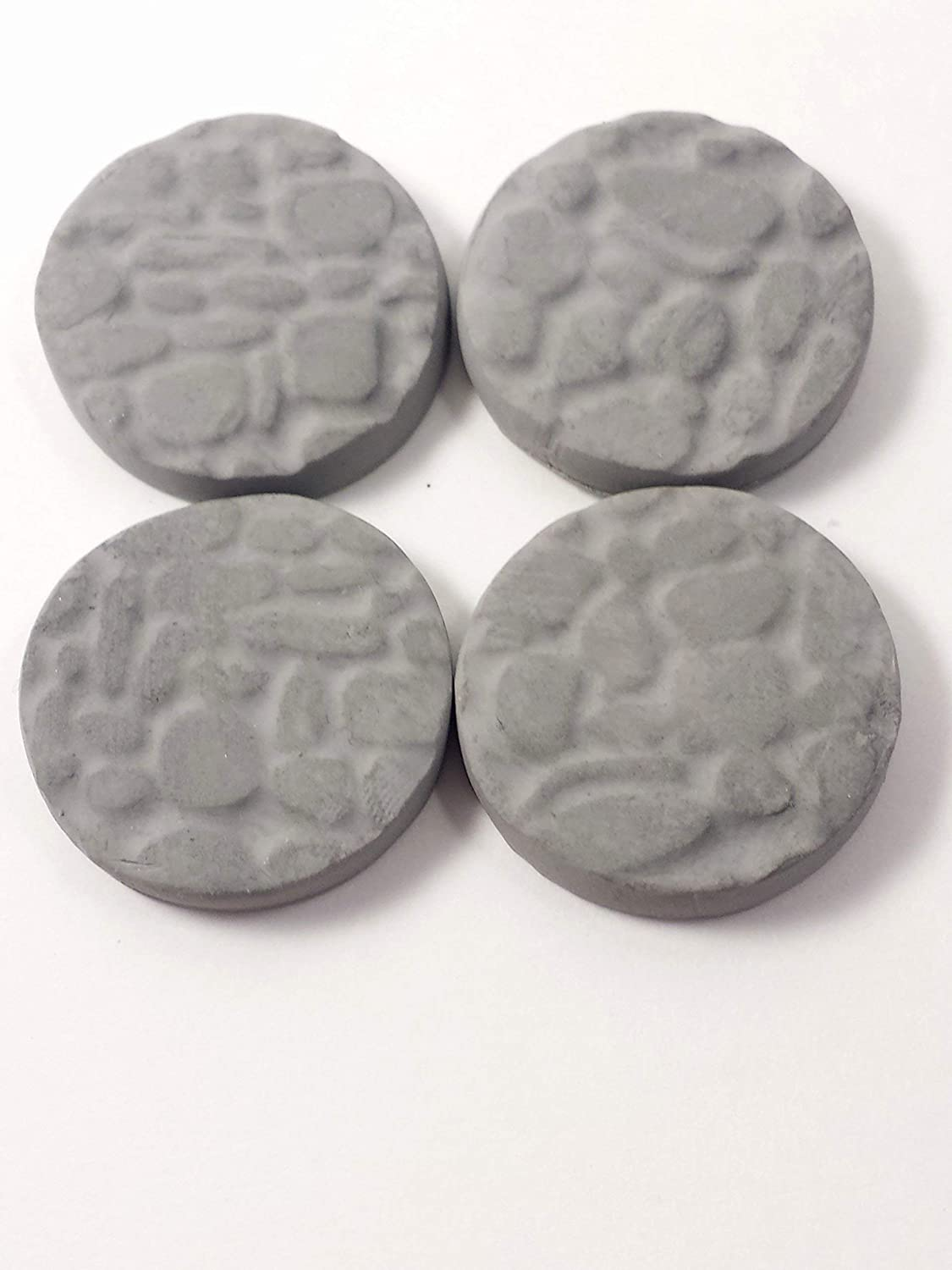 Set of 4 cobblestone mini stepping stones. Fairy garden miniature stepping stones