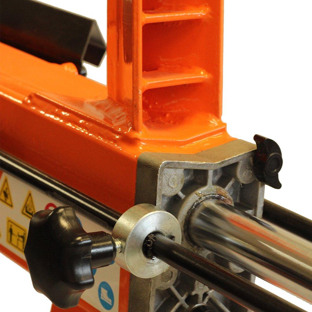 Forest Master Spaccalegna orizzontale con 2200W motore elettrico 6 Ton 52 cm con bloccaggio ruote piroettanti