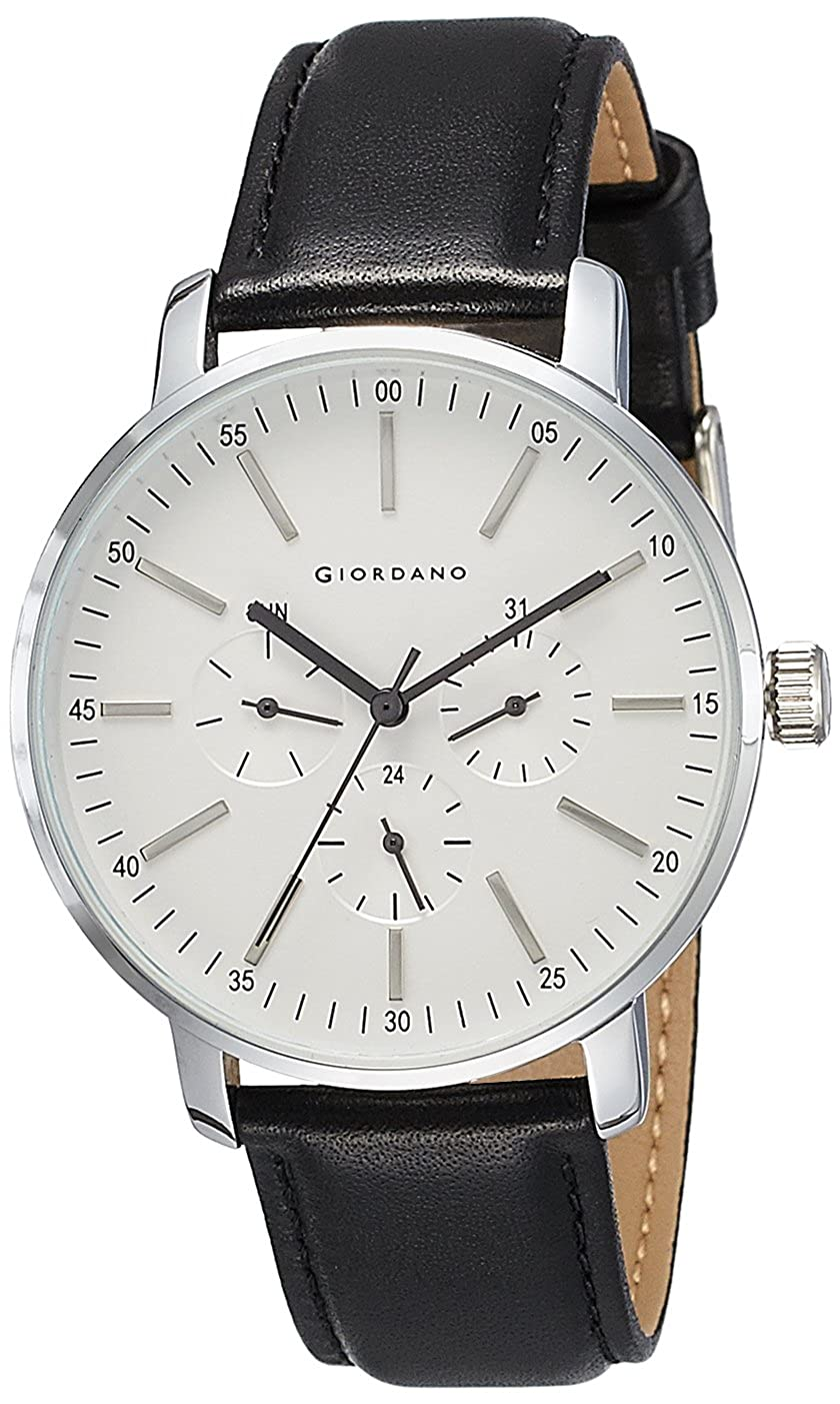 34e80cbc Buy Giordano Analog White Dial Men's Watch - C1003-01 Online at Low Prices  in India - Amazon.in