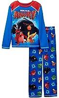 "Angry Birds Boys' ""Born to Be Angry"" 2 Piece Fleece Pajamas, Sizes 4-12"