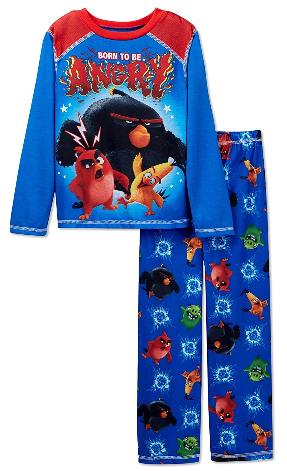 Angry Birds Big Boys' Born to Be Angry 2-Piece Pajamas 8