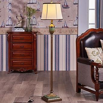 Guo Shop  Stehleuchte American Style Wohnzimmer Schlafzimmer Bedside  European Style Retro Die Mediterrane Ländliche Vertikale