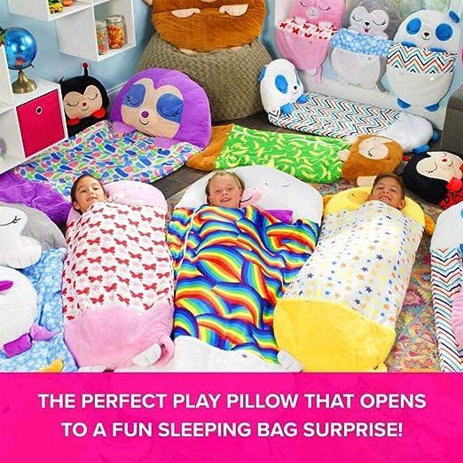 Pink cat Fun Sleeping Bag Surprise for Kids Unicorn Sleeping Bag Play Pillow and Sleeping Bag