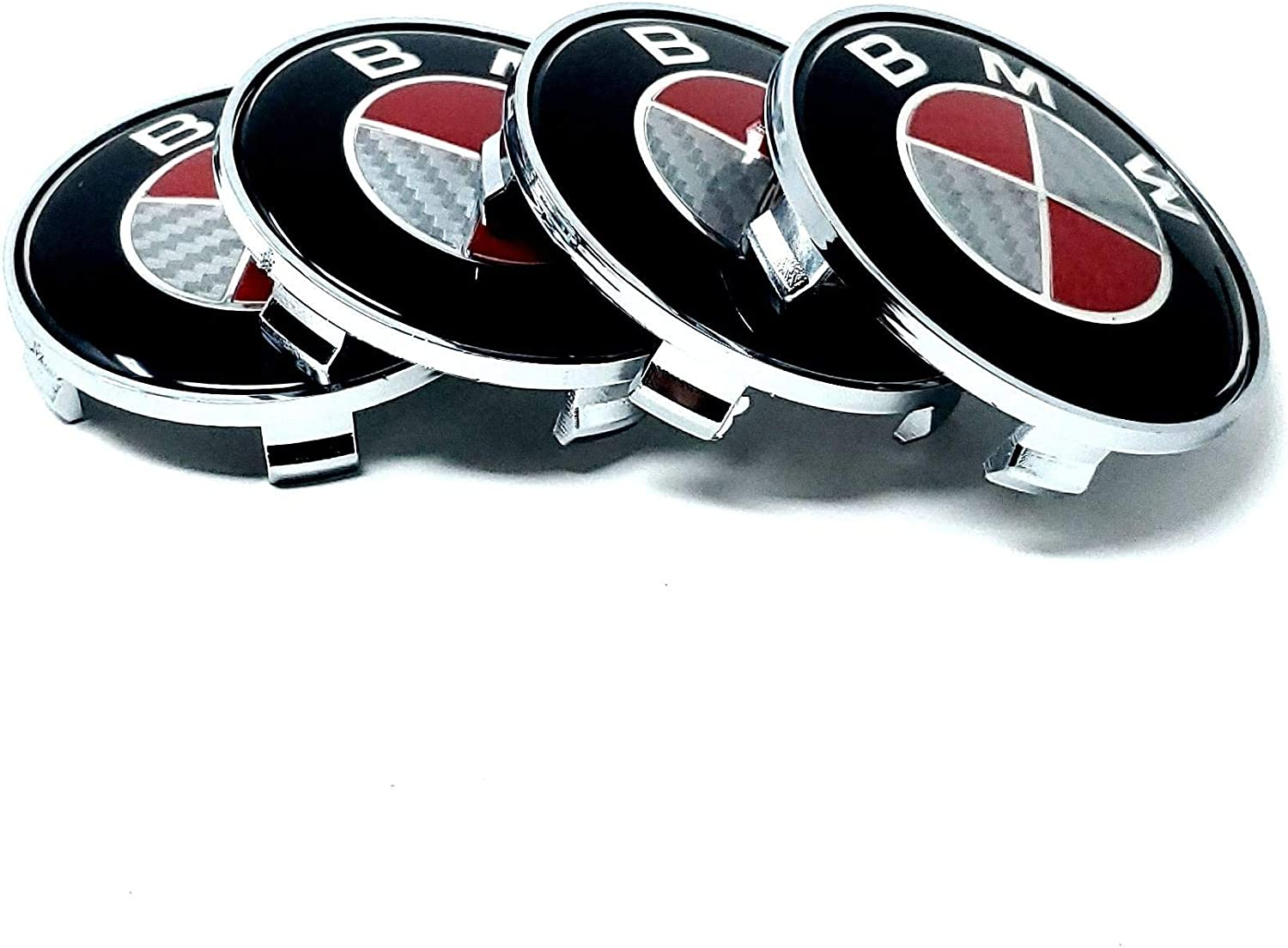BM M POWER PERFORMANCE Emblem Badge Stick Double Sided Tape Trunk Side Rear Front Logo Letters Emblems fit for Universal GR8 82MM 74MM RED CARBON PAIR