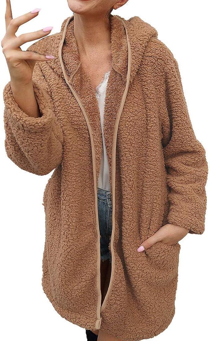 Hiver Chaud Femmes à Capuche Long Manteau Veste Sweats à capuche Parka Outwear Cardigan ZG