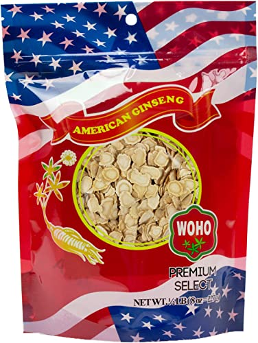 WOHO American Ginseng 125.8 Small Slice Bag 8oz