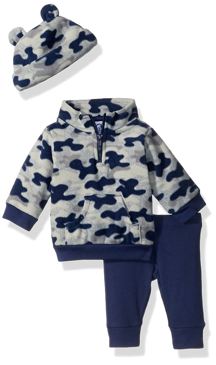 Gerber Baby Boy 3 Piece Micro Fleece Top, Pant and Cap Set Gerber Children' s Apparel FA17JB