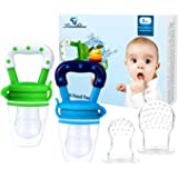 Baby Fresh Food Feeder, Tinabless 2Pcs Silicone Baby Teethers Toy for Toddlers&Kids&Infant, Baby Teething Food Fruit Pacifier