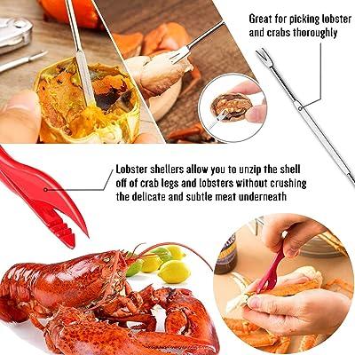 Shellfish Sheller /& Fork Kit for 2 Crab Lobster Shrimp Sheller Crab picker