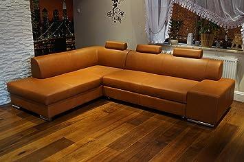 Cognac Farbe Echtleder Ecksofa London Ii 3z 275 X 200 Sofa Couch