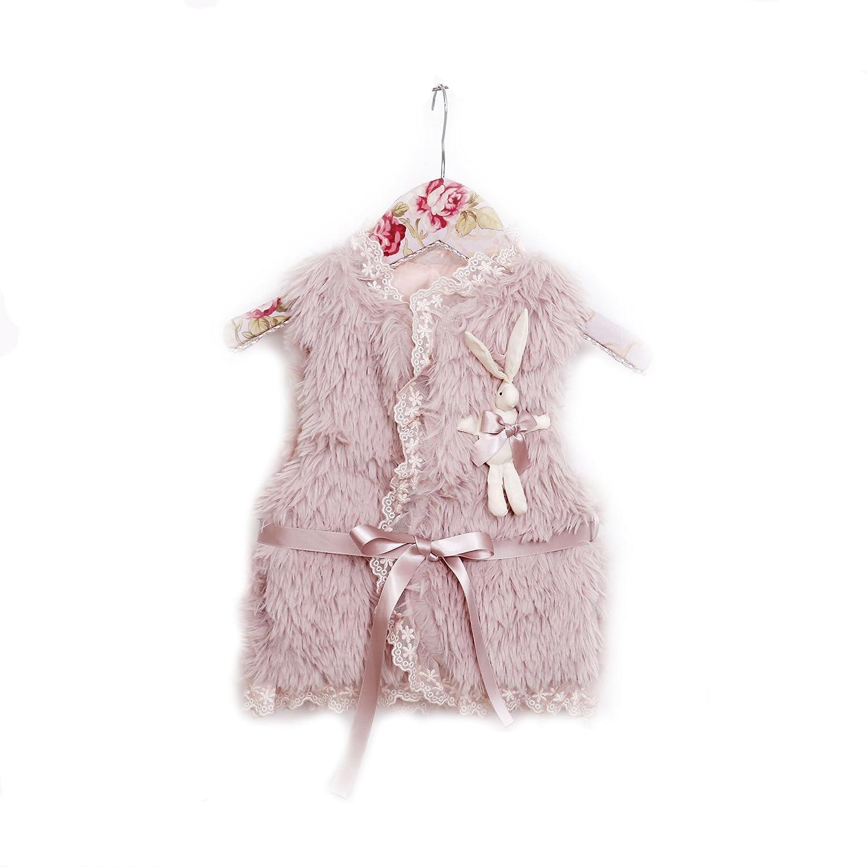 Mae Li Rose Maeli Rose Mauve Faux Fur Girls Vest