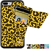 iPhone 7 Plus Wallet Case, ZVE Leopard Print Pattern PU Leather Card Holder Case, Shockproof Case with Money Pocket for iPhone 8 Plus (2017) / iPhone 7 Plus (2016) - Leopard