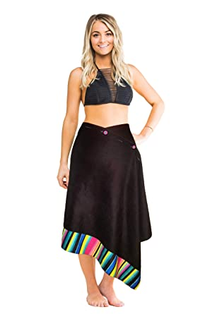 7b4eca01fd Image Unavailable. Image not available for. Color: Simple Sarongs Women's  Microfiber Towel and Swimsuit Cover-up ...