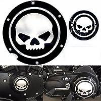 Motocicleta Cromo negro Timing Accesorios del motor Cubierta