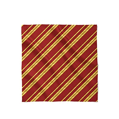 Harry Potter Inspired House Stripes Gryffindor - Large Rectangle (16x60) - Satin Style Scarf