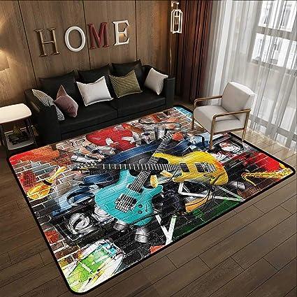 Amazon.com: Large Classical Carpet,Music Decor,Collage of ...