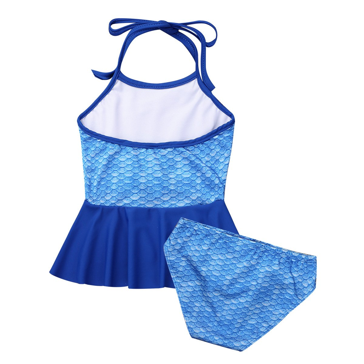 Freebily Girls Kids Two Piece Halter Tankini Swimsuit Mermaid Fish