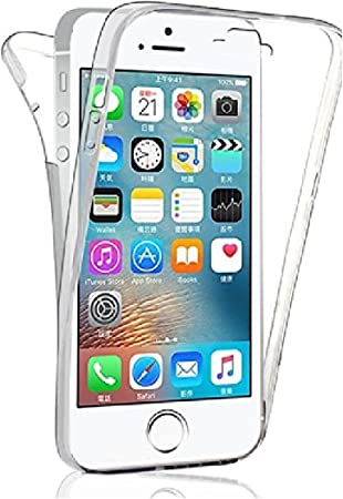 CAMPUS TELECOM Coque Double Gel iphone 5 5s Se Silicone Protection Integral pour Le Smartphone Apple IPHONE Se - Transparent Invisible by