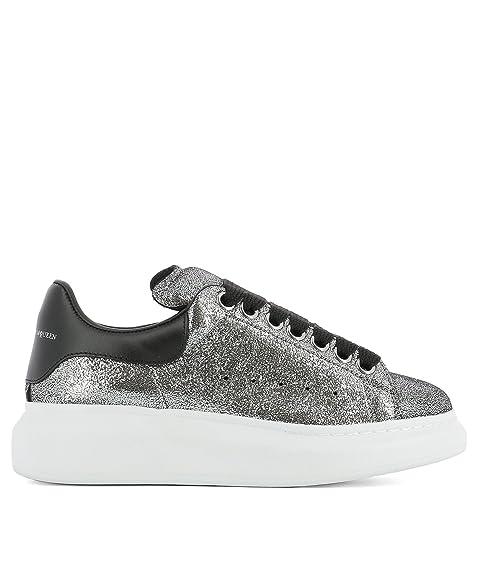 25c30ac61d6b Alexander Mcqueen Women s 470631Whqu18163 Silver Leather Sneakers   Amazon.ca  Shoes   Handbags