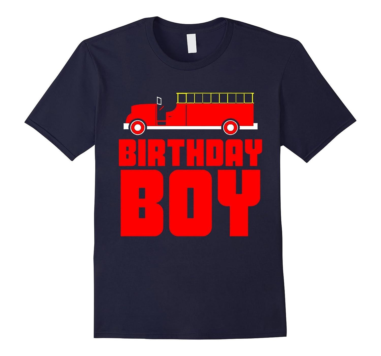 Birthday Boy Fire Truck T-Shirt-Art