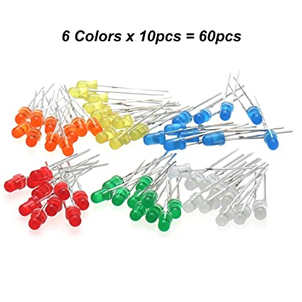 Electronic Components & Supplies Diodes Chanzon 100pcs Led 3mm Diffused Common Cathode Green And Red 3 Pin Round 3 Mm Bi-color Led Through Hole Light-emitting Diode