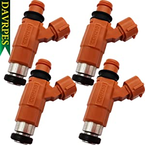 DAVRPES 4Pcs CDH210 68V-8A360-00-00 Fuel Injectors 4 Holes Fuel Spray Nozzle For Yamaha Outboard 115HP Mitsubishi Eclipse Chevy Tracker Replace#INP-771|842-12223