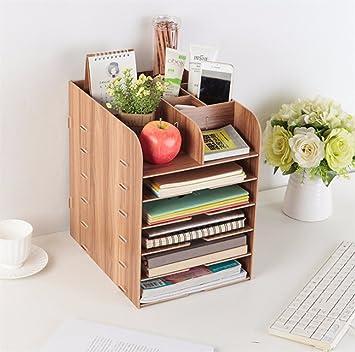 Kangsur Schreibtisch Organizer Holz Diy Multifunktions Mit 12
