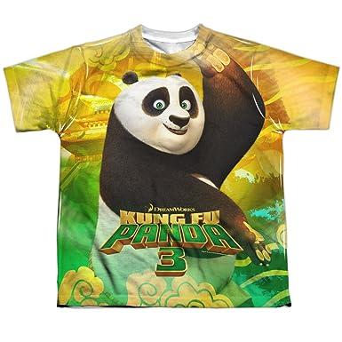 ee745f8a Amazon.com: Kung Fu Panda Film Happy Po Movie Logo Boys Youth Front ...