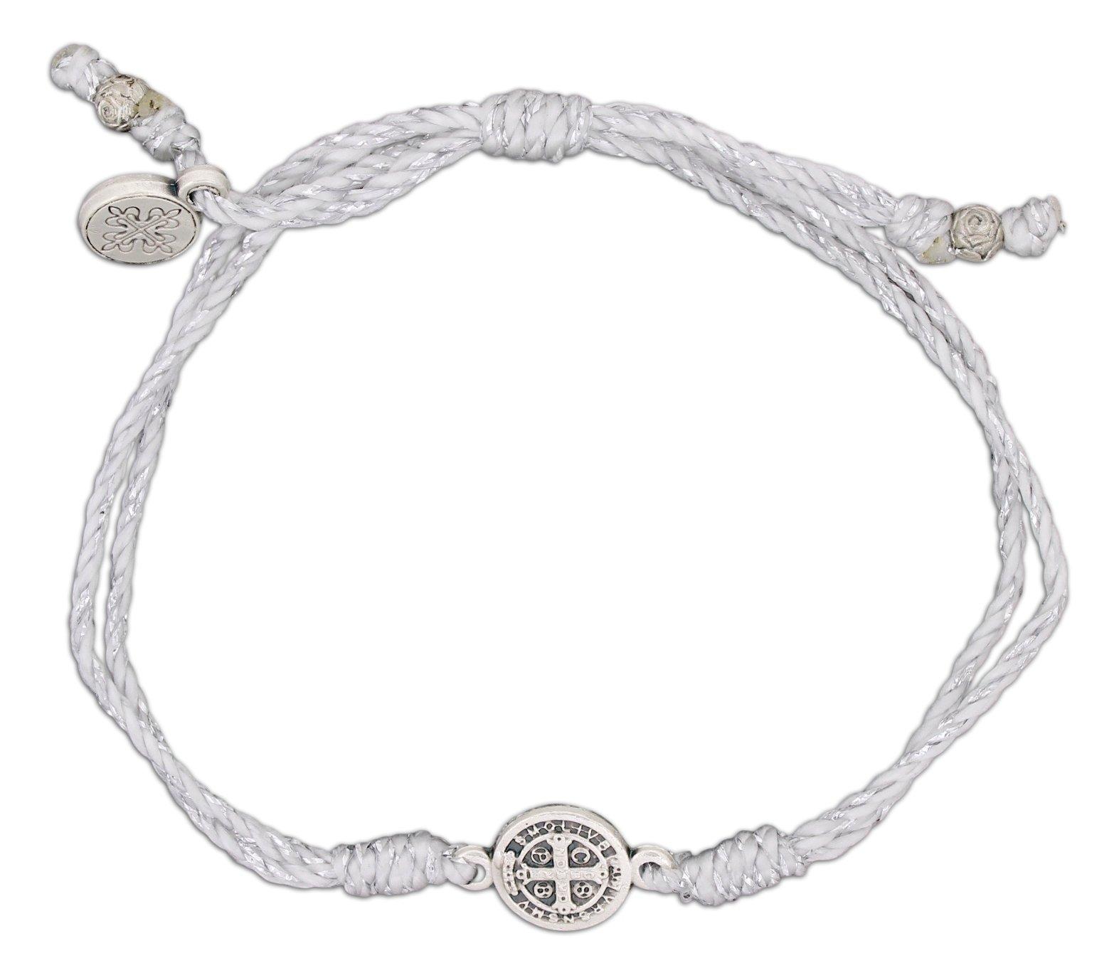Inspirational Breathe Bracelet, Adjustable (Silver Tone on Metallic Silver)