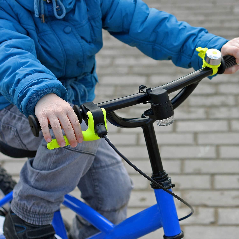 2 Pares de Pu/ños de Bicicleta de Ni/ños Pu/ños de Manillar de Bicicleta de Goma Antideslizantes Cortos para Ni/ños Ni/ñas Bicicleta BMX 90 mm de Largo