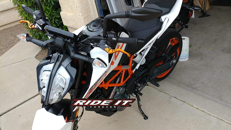RIDEIT Short Motorcycle Adjustable CNC Brake and Clutch Levers for KTM 125 Duke 200 Duke 390 Duke 2013-2018,KTM RC125 RC200 RC390 2014-2018