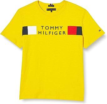 Tommy Hilfiger Global Stripe tee S/S Camisa para Niños