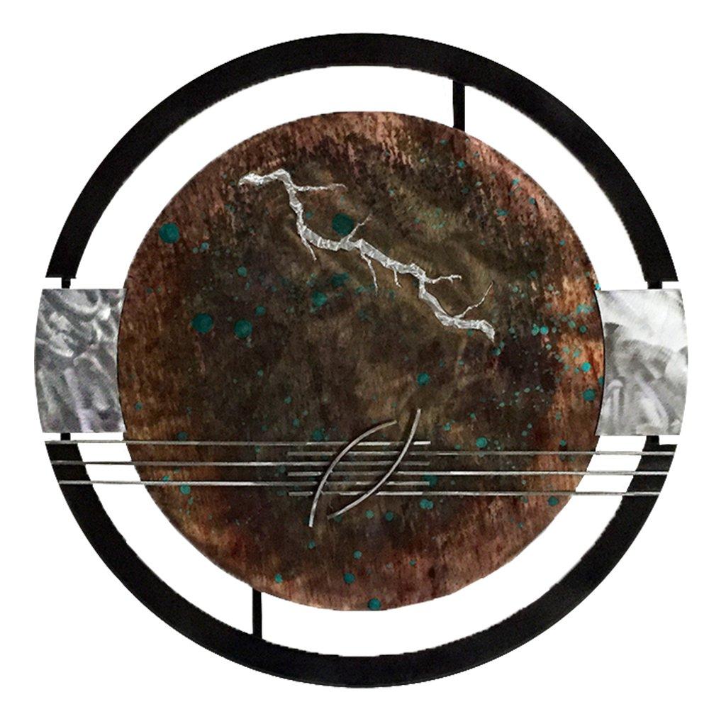 7055 Inc Artisan Gong Silver Lightning//Teal Splash 731236257158
