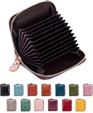 RFID Protection Wallet for Women Credit Card Holder 10 Slots Small Leather Coin Purse/Gift Box 8118 (PINK)