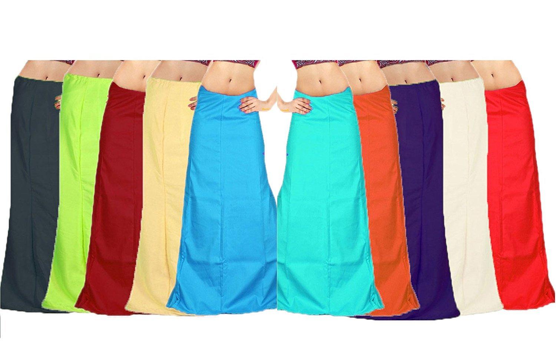 Saree Petticoat (60 Color Options) 100% Cotton Adjustable Waist ...
