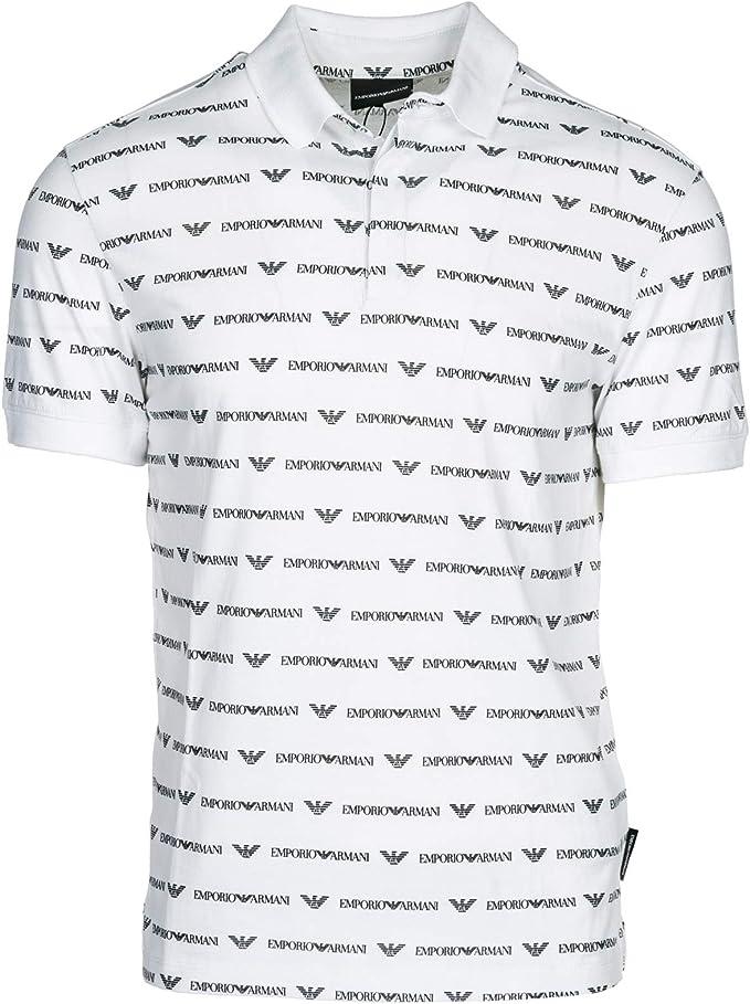 Emporio Armani Polo Hombre Bianco L: Amazon.es: Ropa y ...