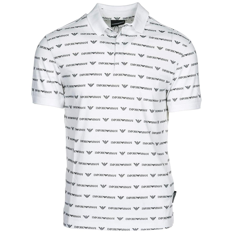 Emporio Armani Polo Hombre Bianco L: Amazon.es: Ropa y accesorios