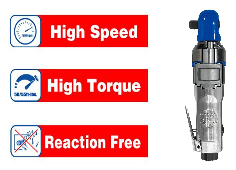 SP Air Corporation SP-1764HD 1//4-Inch Super-Fast Mini Impact Ratchet