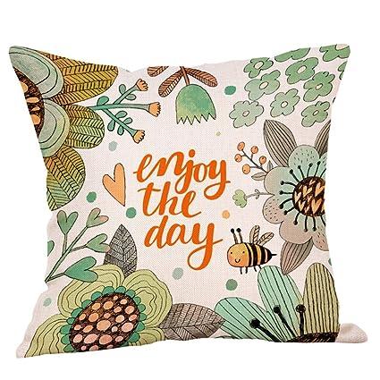Amazon.com: Juner Decor Throw Pillows Striped Cotton Linen ...
