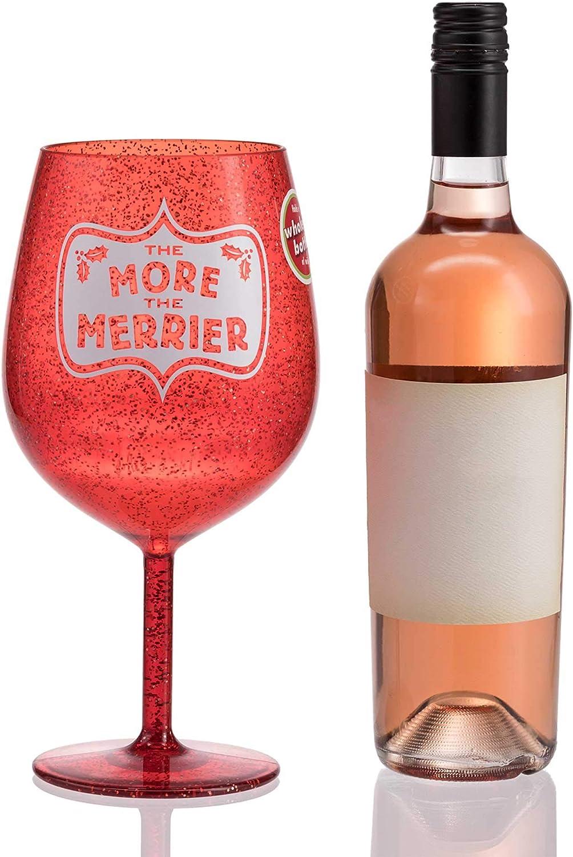Hallmark 6MJC2915 Jumbo Plastic Wine Glass, One Size, Red