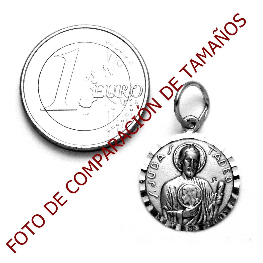 Medalla colgante plata ley 925m San Judas Tadeo 17mm. AA0966